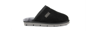 Superlamb Khulan Mens Moccasin Black