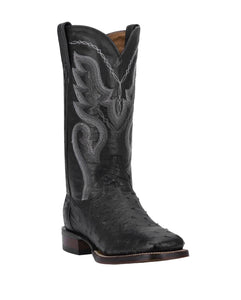 Dan Post DP2980 Men's Chandler Full Quill Ostrich Boots Black