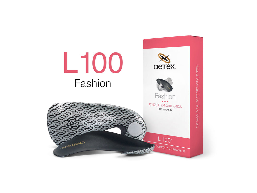 Aetrex Women's L100 Fashion Med/High Arch Orthotic