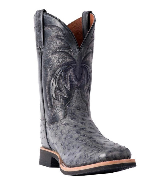 Dan Post DP3984 Men's Philsgood Full Quill Ostrich Boot Grey