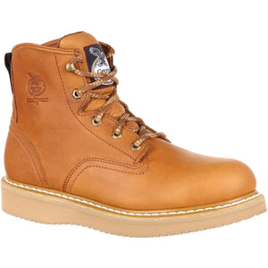 "Georgia #G6342 Men's 6"" Steel Toe Work Boot Barracuda Gold"