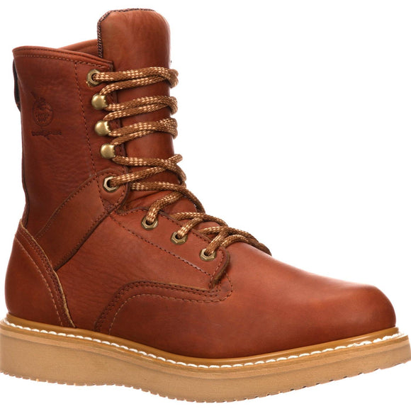 "Georgia G8152 Men's 8"" Wedge Boot Golden Brown"