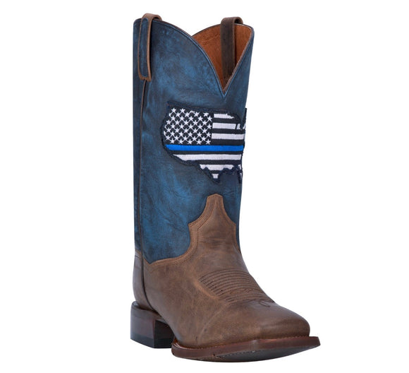 Dan Post #Dp4515  Men's  Thin Blue Line Brown