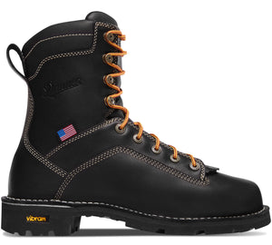 "Danner #17311 Men's 8"" Quarry Usa Alloy Toe Boot Black"