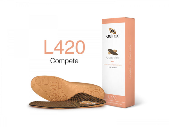 Aetrex L420 Women's Sport/Compete Flat/Low Arch Orthotic Insole