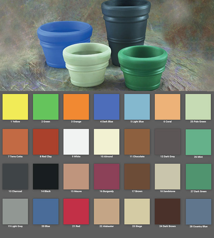 Poly Rotocast Pot Colors