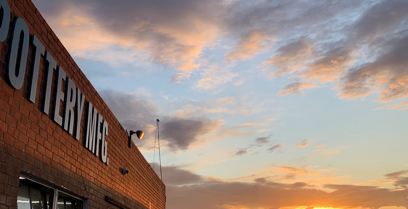Pottery Mfg & Dist building in the sunset