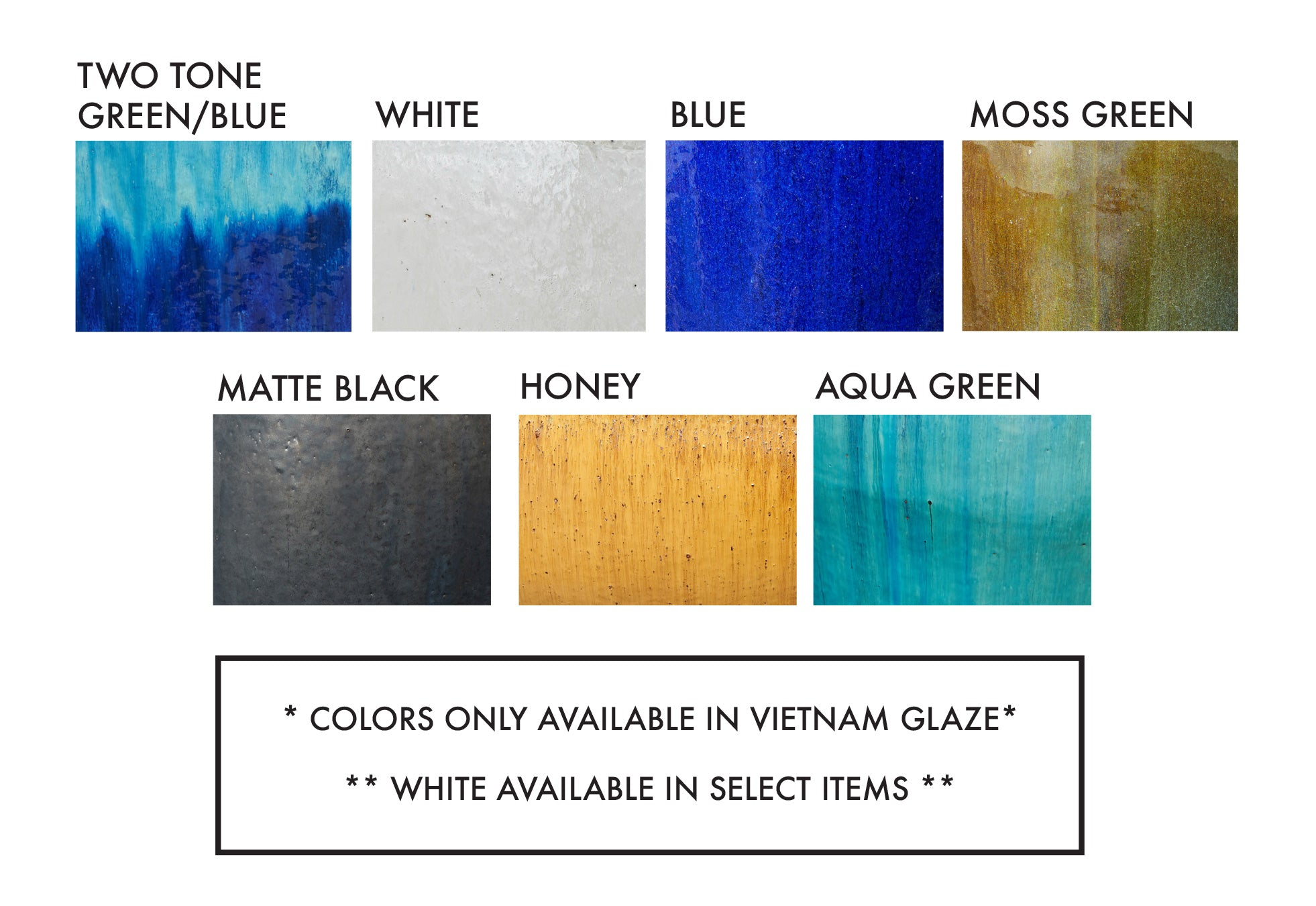 Vietnam Glaze Color Chart