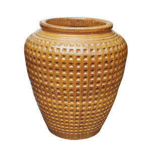 imported vietnam glaze tall dimple oil jar