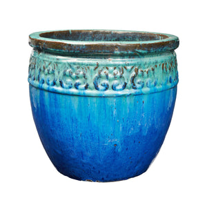 imported vietnam glaze s/4 ornate pot