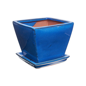 imported chinese glaze angle square with saucer