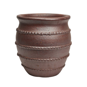 imported vietnam black clay greek bell pot