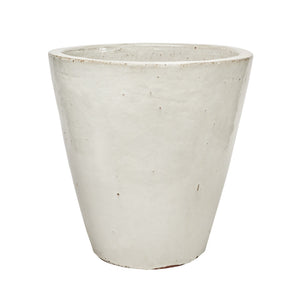 imported vietnam glaze s/3 tall cone pot