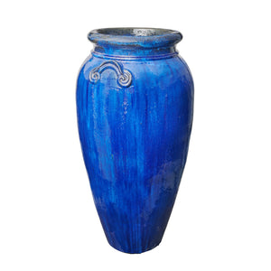 imported vietnam glaze tall jar w/handle