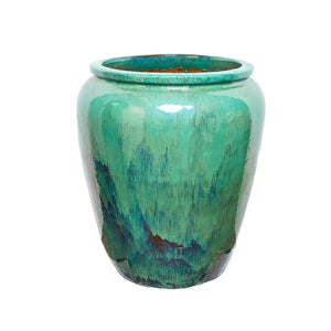 imported vietnam glaze tall wide mouth jar
