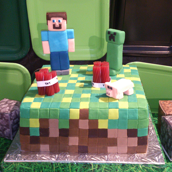 Minecraft Themed Party Build a Birthday