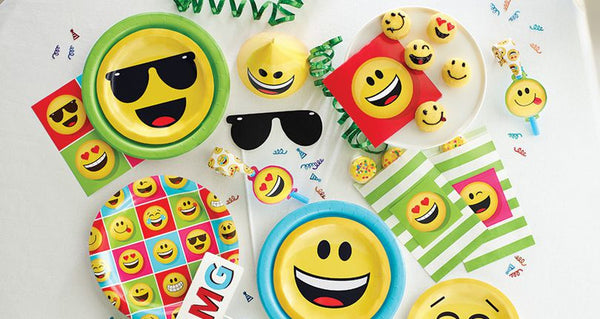 Buy Emoji Party Supplies Online At Build A Birthday NZ