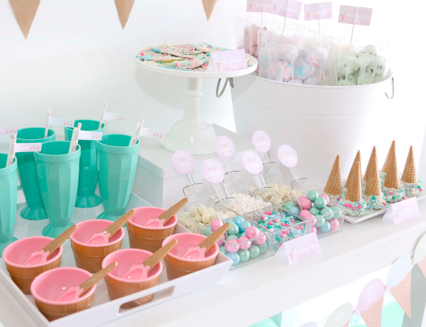 Buy Ice Cream Party Supplies Online At Build A Birthday NZ