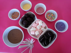 Chocolate fondue party food