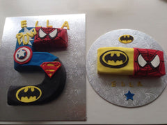 Super Hero five cake