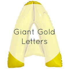 Giant Gold Letters