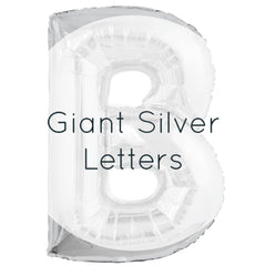 Giant Silver Letters