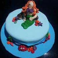 Mermaid Cake (made by a 14 year old)