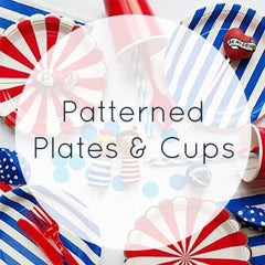 Patterned Plates & Cups