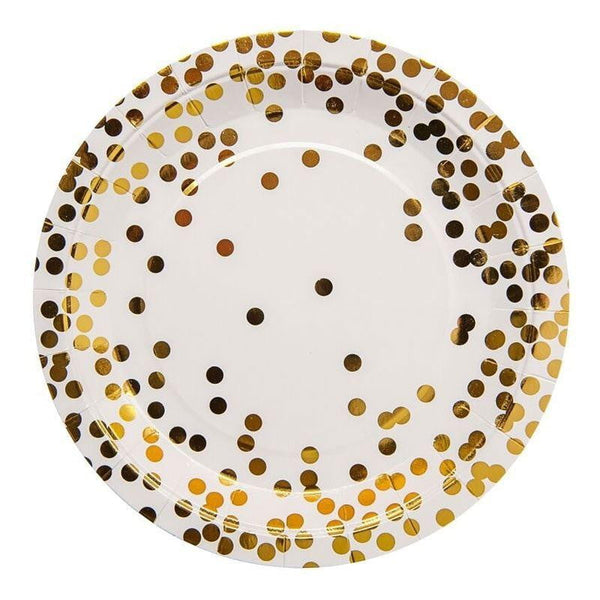 Gold Confetti Plates | Gold Party