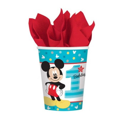 Amscan | Mickey Mouse Fun to be One Cups | Mickey Mouse Party Theme & Supplies