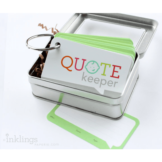 Inklings | Quote Keeper | Baby Shower Gifts