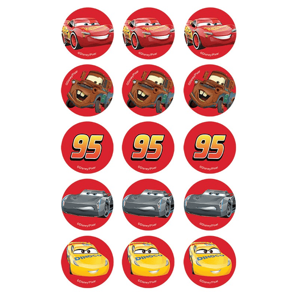 Disney Cars 3 Edible Cupake Images | Disney Cars Party