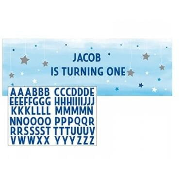 Creative Converting | One Little Star Blue Banner | 1st Birthday Party Theme & Supplies