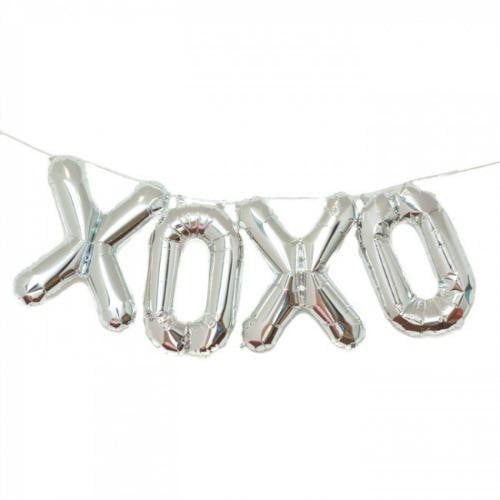 North Star Balloons | Silver Foil Balloon Bunting - XOXO