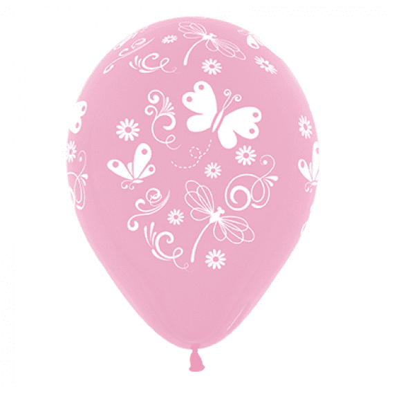 Sempertex | Pink Butterflies & Dragonflies Balloons - Pack of 6 |