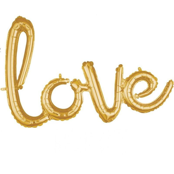 Gold Love Balloon Banner | Wedding Decorations