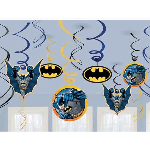 Batman Swirl Decorations | Batman Party Supplies