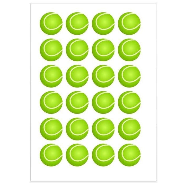 Tennis Ball Edible Cupcake Images | Sports Party Theme & Supplies
