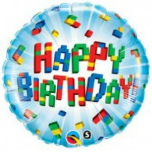 Qualatex | Happy Birthday Blocks Foil Balloon