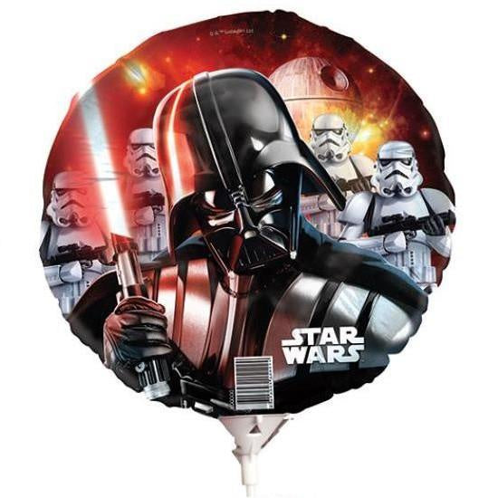 Disney | Darth Vader Foil Balloon On Stick | Star Wars Party Theme & Supplies