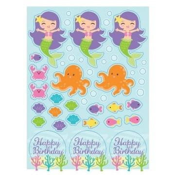 Party Creations | Mermaid Friends Stickers