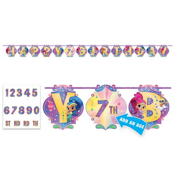 Shimmer and Shine Birthday Banner | Shimmer and Shine Party Supplies