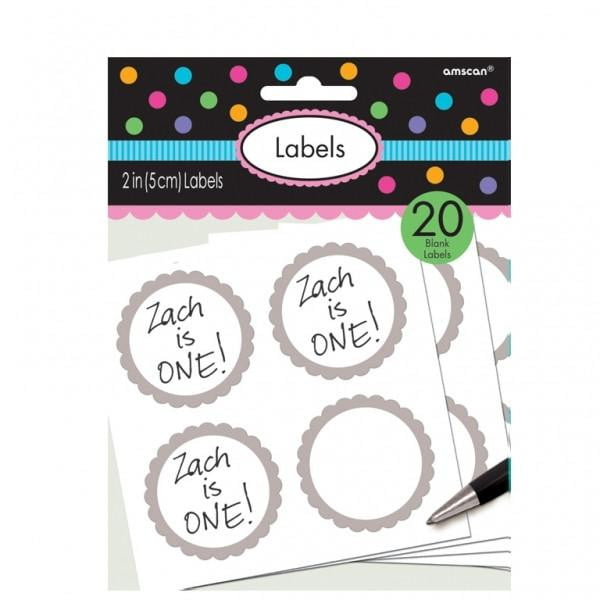 Silver Labels | Party Labels | Party Tags | Silver Party Supplies