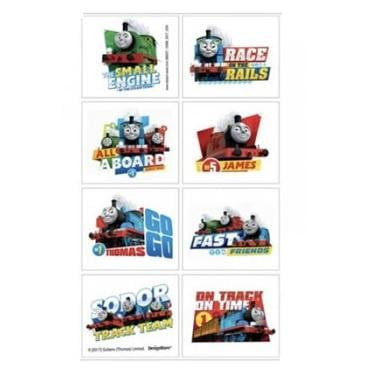 Amscan | Thomas the Tank Engine All Aboard Tattoos | Thomas Party Theme & Supplies