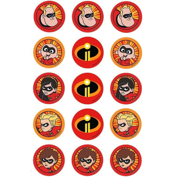 The Incredibles Cupcake Images | Super Hero Party Theme & Supplies