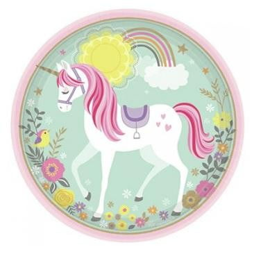 Magical Unicorn Plates - Dinner | Unicorn Party Theme & Supplies