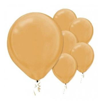 Amscan | Value Balloons Pack of 15 - Metallic Gold