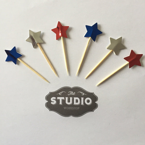 Star Cupcake Toppers | Cupcake themes and supplies