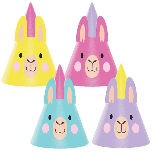 Amscan | Llama Party Shaped Hats | Llama Party Theme & Supplies