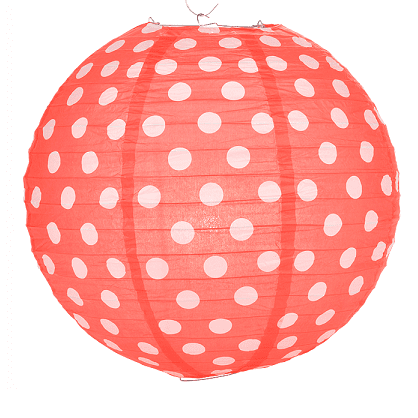 Red Polka Dot Lantern | red Party Decorations